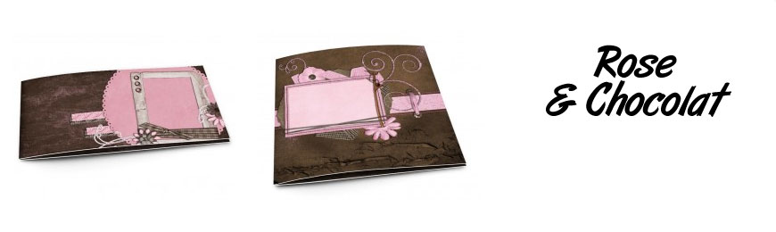 Faire-part de mariage rose et chocolat