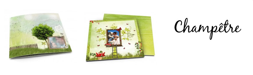 Cartes de remerciements mariage champêtre