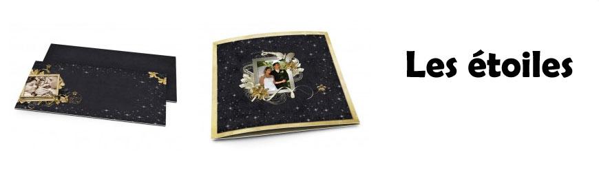 Cartes de remerciements mariage étoiles