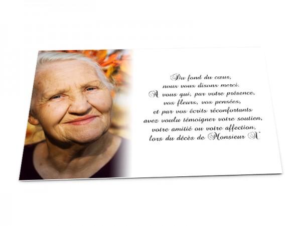 carte de remerciement décès avec photo Carte remerciement décès personnalisable avec photo   1001Cartes