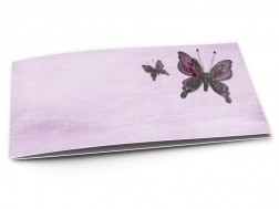 Faire-part mariage - Deux papillons violets