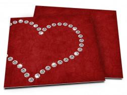 Faire-part mariage - Coeur de diamants