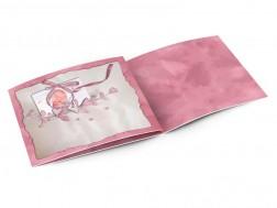Faire-part naissance - Rose métallique