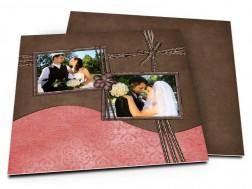 Remerciements mariage - Ruban marron et rose