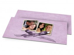 Remerciements mariage - Un petit noeud violet