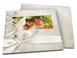 Remerciements mariage - Ruban et croisillons