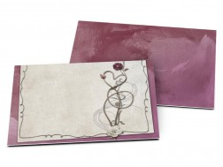 Carton d'invitation mariage - Love pourpre