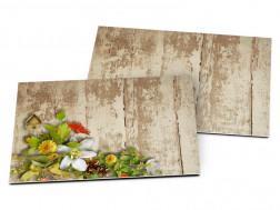 Carton d'invitation mariage - Un printemps flamboyant