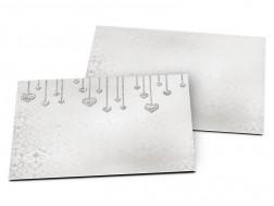 Carton d'invitation mariage - Coeurs en pendentifs