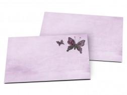 Carton d'invitation mariage - Deux papillons violets