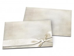 Carton d'invitation mariage - Ruban et croisillons