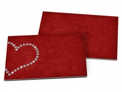 Carton d'invitation mariage - Coeur de diamants