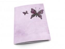 Menu mariage - Deux papillons violets