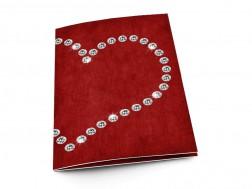Menu mariage - Coeur de diamants