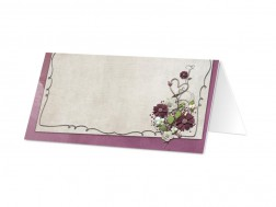 Marque-place mariage - Love pourpre
