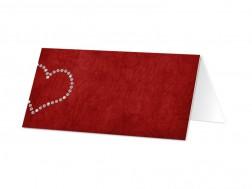 Marque-place mariage - Coeur de diamants