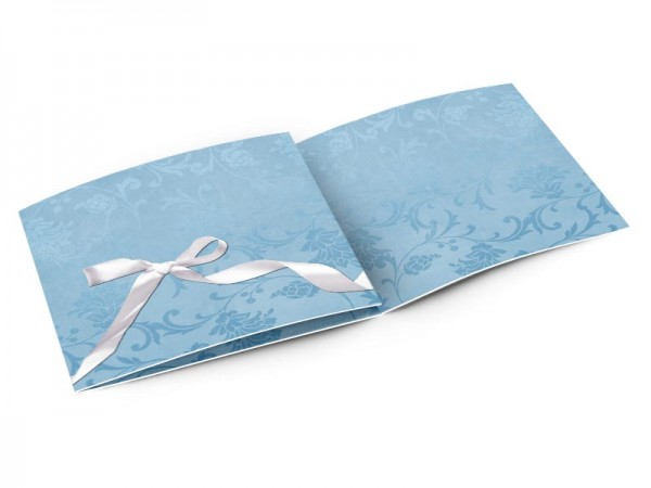 Faire-part baptême - Noeud bleu