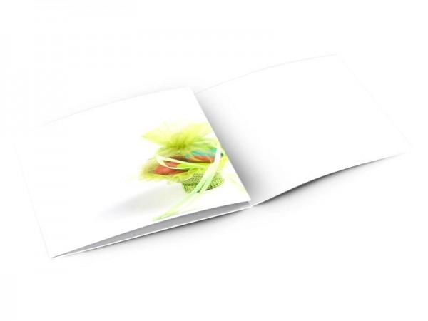 Faire-part baptême - Un petit panier vert