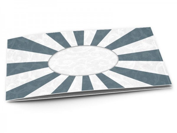 Faire-part communion - Rayons bleus