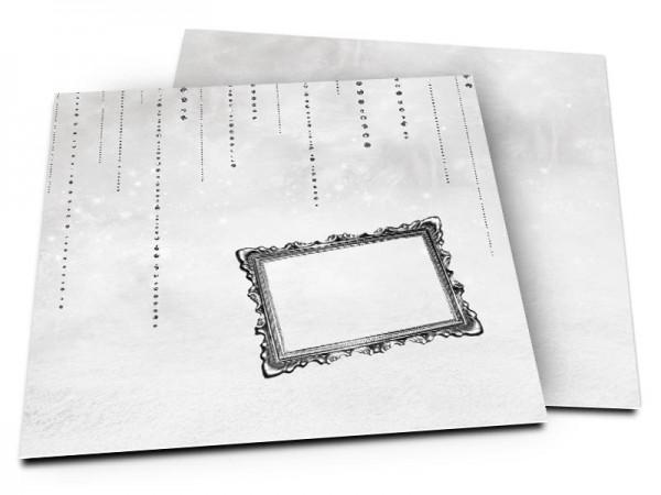 Faire-part communion - Perles noires