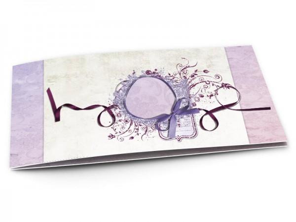 Faire-part mariage - Un ruban violet