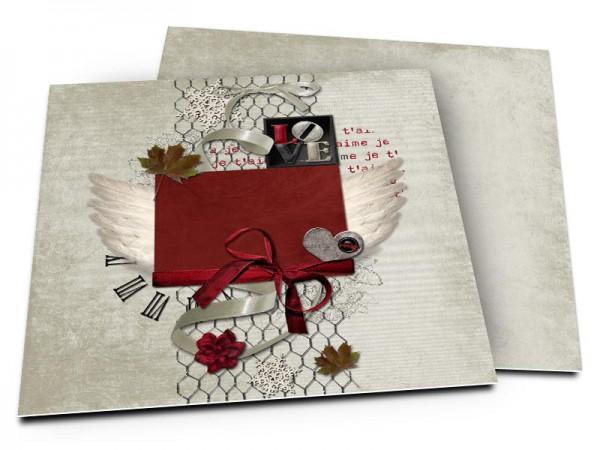 Faire-part mariage - L'amour donne des ailes