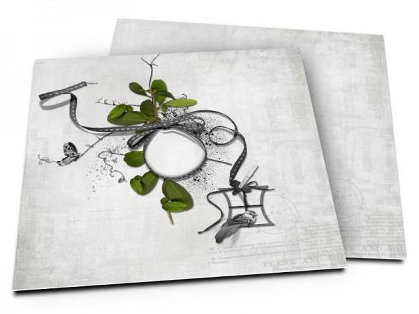 Faire-part mariage - Un nid dans les arbres