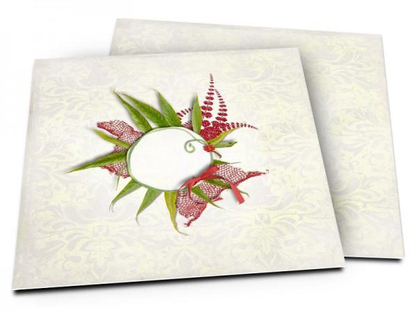 Faire-part mariage - Un nid de feuilles