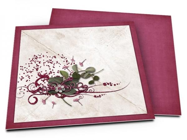 Faire-part mariage - Graines dispersées par le vent