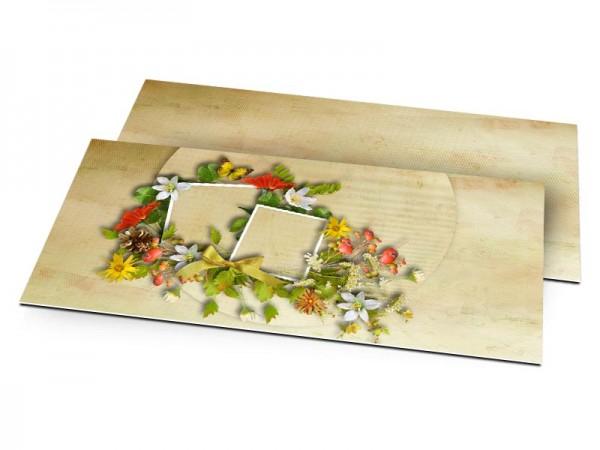 Faire-part mariage - Poésie printanière