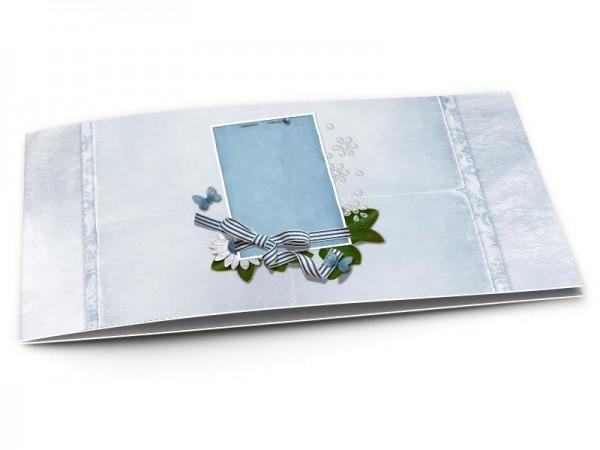 Faire-part mariage - Papillons bleus