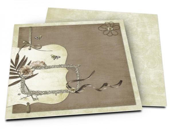 Faire-part mariage - Rubans et libellules