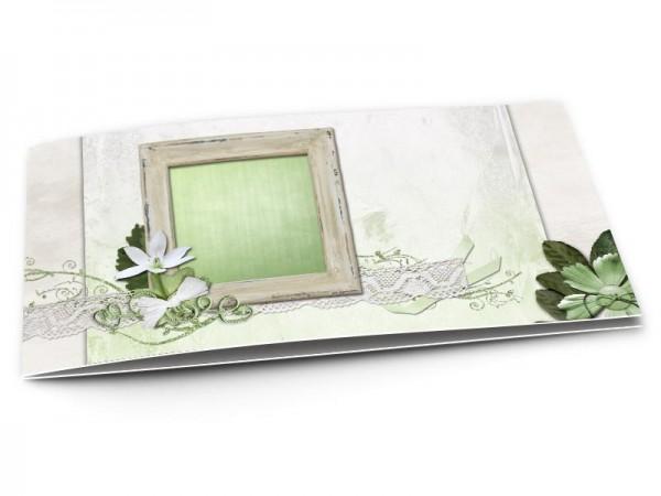 Faire-part mariage - La fleur verte