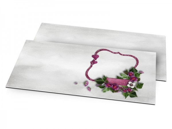 Faire-part mariage - Lierre fleuri