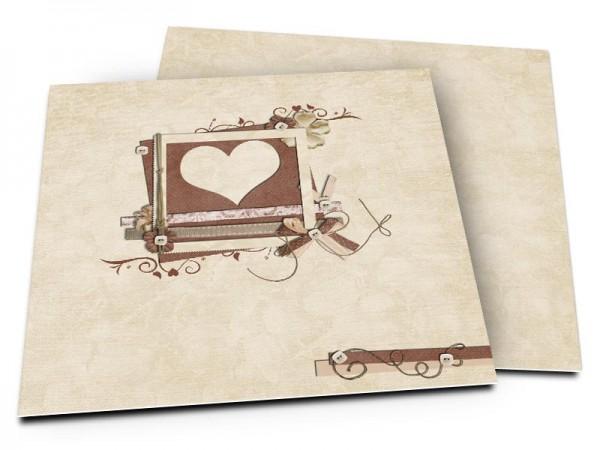 Faire-part mariage - Un coeur creusé