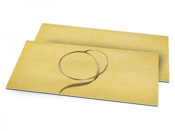Faire-part mariage - Fil d'or