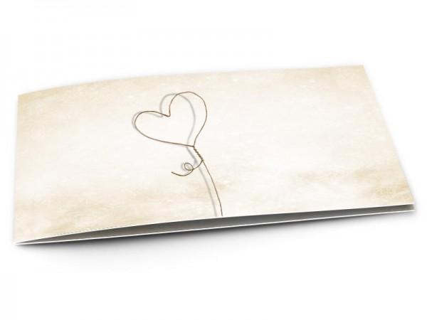Faire-part mariage - Coeur lasso