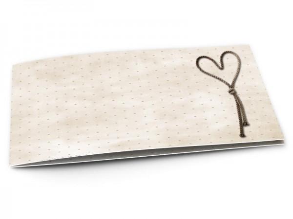 Faire-part mariage - Coeur posé sur fond à pois