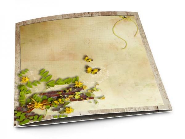 Faire-part mariage - Champêtre – papillons jaunes