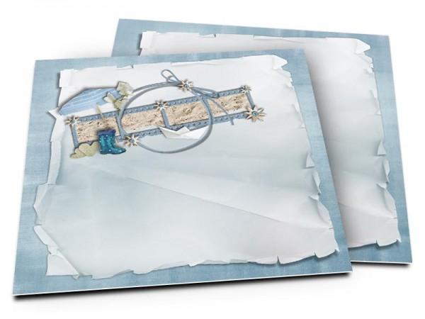 Faire-part mariage - La mer – parasol et bateau en papier