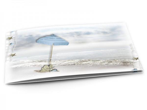 Faire-part mariage - La mer – sur la plage abandonnée...