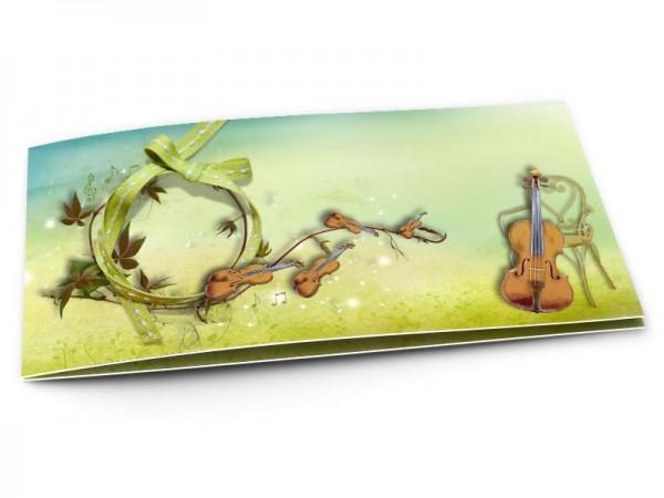 Faire-part mariage - La musique - violons et violoncelles
