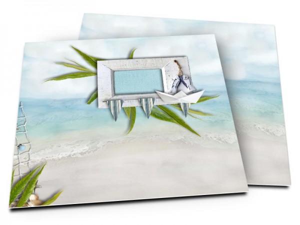 Faire-part mariage - Les îles – une plage paradisiaque