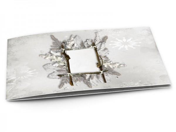 Faire-part mariage - L'hiver – cristaux de neige