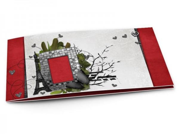 Faire-part mariage - Paris – feuillages et tour Eiffel