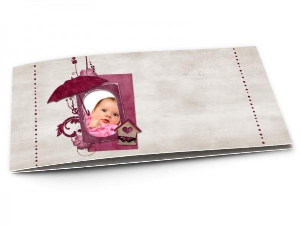 Faire-part naissance - Ombrelle et papillon