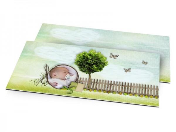 Faire-part naissance - L'arbre aux papillons
