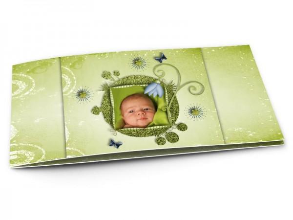 Faire-part naissance - La planète verte