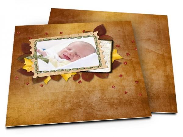 Faire-part naissance - Feuilles d'automne