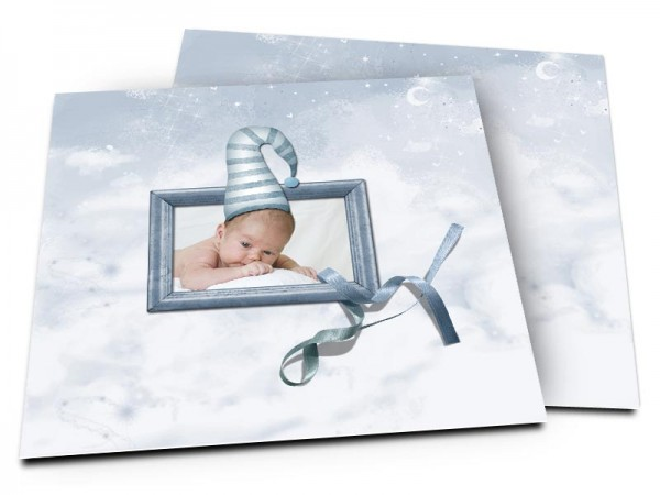 Faire-part naissance - Un joli bonnet de lutin